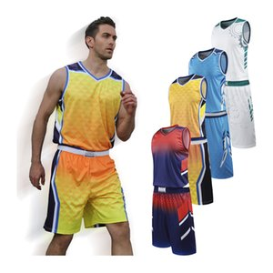 Basketball Jerseys College Training Uniform Team Tracksuits High Quality Printed Custom Sports Kit Clothing Youth Game Suit