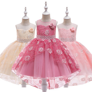 Girl Dress Bridesmaid Pageant Gown Teens Kids Dresses For Girls Birthday Party Wedding Sequins Tuxedo Dress Children Clothes