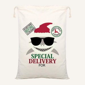 최신 크리스마스 산타 가방 산타 자루 Drawstring 가방 캔버스 캔디 가방 Reindeers에 대 한 아이 선물 Xmas 트리 DHC1457