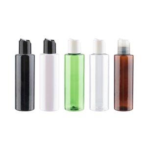 150ml 12pcs Toptan Doldurulabilir Plastik Disk Cap Kozmetik Şişeler Yüksek Kalite PET Sıvı Sabun Konteyner Beyaz Şeffaf Yeşil Vial