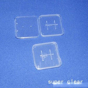 TF Card Case Transparent super clear card Holder white box pp Storage Case for TF micro SD card