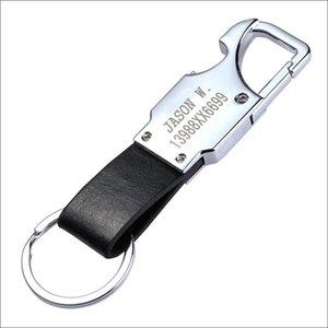 Cgjxs Led Anahtarlık Özel Yazı Erkek Deri Anahtarlık Metal Araba Anahtarlık Çok Fonksiyonlu Aracı Anahtarlık Led, Şişe Açacakları