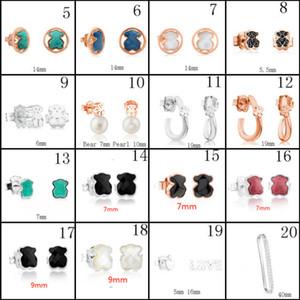 2020 100% 925 Urso de Prata Sterling Stud Brincos clássico Pierced brincos jóia por atacado fabricantes gratuito Shipping1