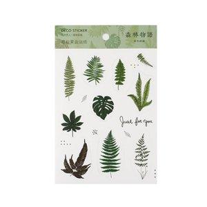 Pvc Forêt décorative bâton plante Scrapbooking autocollants histoire Matte album Matte Stationery Diary Étiquette d'autocollant de fleur série de bdebaby