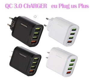 4 porte USB caricatore mobile adattatore QC 3.0 Phone Charger 5V3A multifunzionale Fast Charge Tablet Viaggi ricarica capo DHL 3-7DAYS NAVE