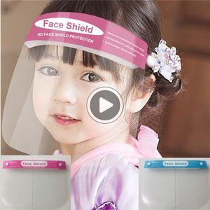 Adultos Moda Den Fa Fa escudo para niños Máscaras Transparente anti-vaho máscaras de protección a prueba de polvo multifuncionales de pleno Fa Aire libre ERS