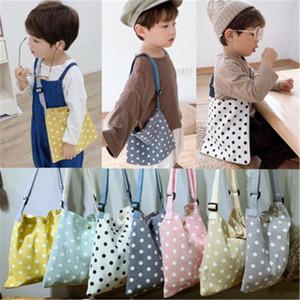 Purse Children Girl Kids Coin Bag Hobos Mini Small Cute Cotton Fabric Dot Korean Accessories Wholesale Gifts