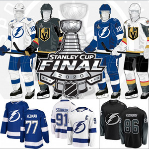 2020 Stanley Cup Final Nikita Kucherov Jersey Tampa Bay Lightning Tyler Johnson Brayden Point Steven Stamkos Victor Hedman Andrei Vasilevski