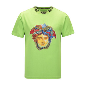 Nouveau 2020 Hommes Summer Fashion Plus Size T-shirts Hauts manches courtes T-shirt imprimé lait T-shirt 3D Designer Golf Vêtements M-3XL T-shirt mm