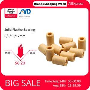 Printing 3D Printer Parts & Accessories 8pcs 3D Printer Solid Plasticr Bearing ID 6 8 10 12mm shaft Igus Drylin -01-06 -01-08 RJMP-0...