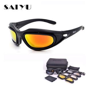 SAIYU C5 Ordu Gözlük Çöl Fırtınası 4 Mercek Doğa Sporları Avcılık Güneş Karşıtı UVA UVB X7 Polarize Savaş Oyunu Motosiklet Glasse