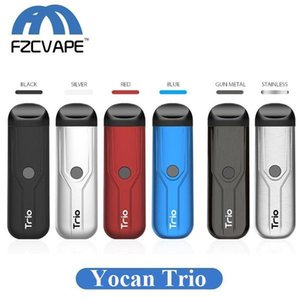In Kit 1,0ml Yocan Oil Trio Kit Cartridge Pod Authentic Vaporizer Starter 3 Battery 400mah With Thick Vv E 1 For Concentrate Liquid CpOpLKZ