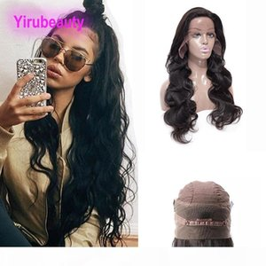 Peruvian Unprocessed Human Hair Body Wave 360 Lace Frontal Wig Pre Plucked Virgin Hair 360 Frontal Wig 8-26inch With Baby Hair Natural Color