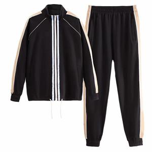 Homens novos da chegada das mulheres sportswear agasalho homens sweatsuit alta qualidade de carta padrão de impressão pista suor paletós XS-3XL
