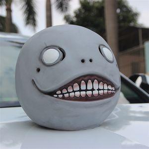 NieR: Automata Emil Mask Gray Latex Mask Head Hood Gray Mask for Halloween Cosplay High Quality
