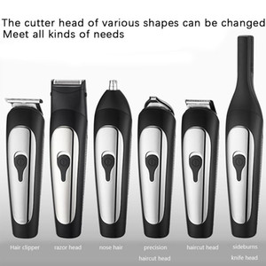 6 in 1 Electric Hair Clipper for Men USB Rechargeable Low Noise Suitable for Facial Hair Beard and Stubble Trimming JK1