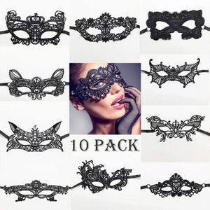 Lace Masks girl Horror Party Mask Retro Jazz Mask Antique Half Face Mask Decoration woman Christmas