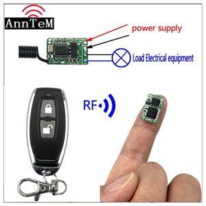 미니 작은 스위치 모듈 컨트롤러 온 / 오프 Anntem dc3.5V7v 9V 12V RF 무선 원격 contro 433MHZ 리튬 배터리 전원 콘센트