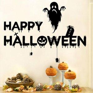 Happy Halloween Background mur Sticker fenêtre Home Décor Étiquette décoration Halloween personnalité créative Sticker citrouille