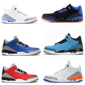 AJ3 Retro Hommes Chaussures de basket-ball Katrina Tinker JTH NRG Ligne de jet gratuite Ciment noir Corée Pure White Fire Entraîneur de   sport Sneakers
