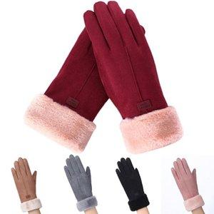 ISHOWTIENDA Winter Autumn Knitted Gloves Womens Fashion Winter Outdoor Sport Warm Gloves Mitten