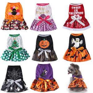 مضحك هالوين كلب ملابس فساتين كلب صغير تأثيري القط عيد الميلاد حلي وحتى الزي القط اللباس جرو تشيهواهوا 35