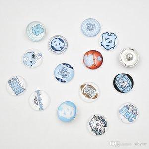 Hadas Botón Cgjxs NCAA Unc Carolina del Norte 18 mm de cristal de alta calidad de Snap Snap accesorios de joyería para la pulsera del collar pendiente