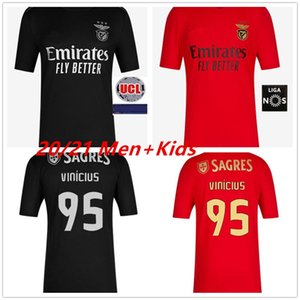 20 21 Benfica Futebol Vinicius Pizzi Rafa Seferovic A. Almeida Ruben 2020 2021 SL Benfica Zivkovic Soccer Jersey Men + crianças conjuntos de kit