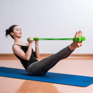 2 4 Tube Strong Fitness Resistance Bands Latex Pedal Exerciser Foot Pull Ropes Yoga Sports Pilates Fitness Slimming Equipment