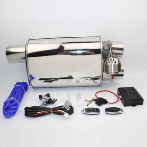"2.5"" Exhaust Exhaust System Stainless Steel elétrica recorte válvula com eletrônica Remote Control Mudar silencioso tubulação 7j2K #"