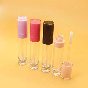 30 50pcs 5ml Empty Lip gloss tube Clear lip glaze bottle Pink,Black cap,DIY Refillable Makeup Cosmetics packing contaienr