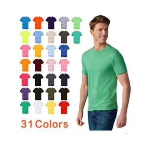 2020 100% algodão vestuário básico personalizada impressão do logotipo oem em branco liso homens Camiseta