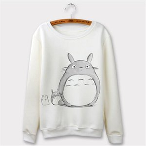 Totoro Hoodie Women Sweatshirt 2020 Harajuku Cartoon Print Hoodies Long Sleeve Autumn Clothing Sudaderas Mujer O neck Hoody