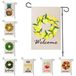 حار حديقة العلم علامة حديقة الصيف ترحيب ساحة الحزب في الهواء الطلق الأناناس الديكور راية أعلام 47 * 32CM 50PCS T2I51434