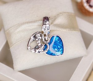 2020 New 925 Sterling Silver Lady and the Tramp Heart Dangle Charms Fit Beads Necklace Bracelet DIY Pendant For Women Fine Jewelry33