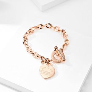 Vendedores calientes de Navidad Proverbios de la Biblia pulsera 4:23 encantos Damas de acero de titanio de oro rosa plateado oro pulseras brazalete amor del corazón