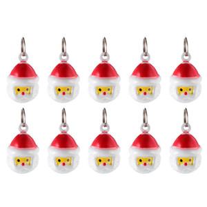 10 Ad Bells Çok güzel Fonksiyonlu Portatif Noel Baba Şekli Dayanıklı ve Jingle Bell Pet Kedi Köpek Pet Kolye Malzemeleri