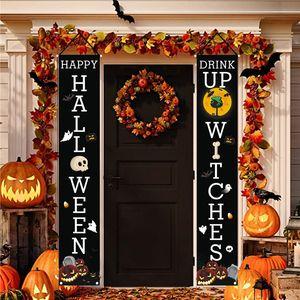 32 estilos de Halloween dísticos bandeiras de Halloween decorações dia das bruxas feliz dísticos porta traje 32 * 180cm T3I51160