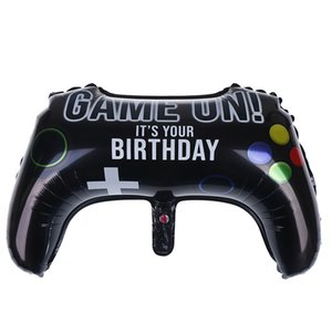 Big Video Game Controller Aluminum Foil Balloon foil balloons Boy Inflate Toy boy Birthday Party Decor