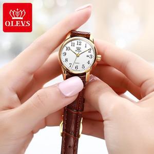 Olevs más nuevas mujeres relojes de pulsera a prueba de agua para la Mujer Casual reloj de señoras con número arábigo Calendario Fecha Reloj Mujer