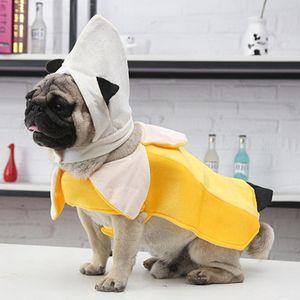 Costumes Dog roupas engraçadas Banana Cosplay roupas filhote de cachorro do revestimento do revestimento de Inverno Festa de Natal Halloween Pet
