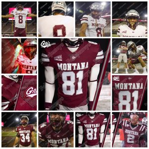 2020 Montana Grizzlies 12 Kris Brown 5 Garrett Graves 2 Camron Humphrey 11 Dalton Sleece 14 Ryan Arntson NCAA Koleji Futbol Forması
