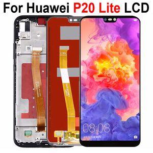 5.84 بوصة لهواوي P20 ايت العرض LCD تعمل باللمس استبدال محول الأرقام الجمعية لشاشة LCD هواوي نوفا 3E مع الإطار