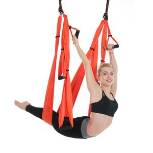 Aerial Yoga Swing Hammock Antigravity Inversion Swing Ceiling Hanging Yoga Sling Set with Extension Straps for Home & Gym Fitnes