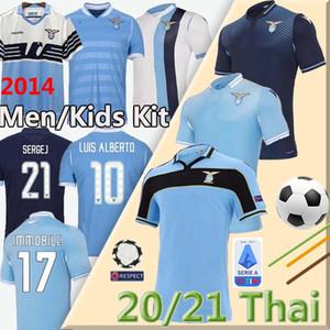 20 21 maillot de football Lazio 2014 2020 2021 Lazio Maillot de football camiseta de ALBERTO LUIS futbol IMMOBILES SERGEJ uniformes maillot de pied