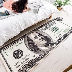 Dormitorio creativa EE.UU. dólar 3D alfombra para Salón Área Alfombra Alfombra de piso de noche Pasillo Felpudo Alfombra Kids decoración del hogar