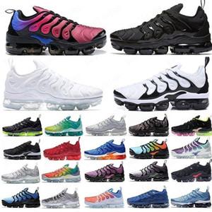 2020 Boyutu 13 Sneakers TN Artı Tüm Siyah Üç Kişilik Beyaz Koşu Ayakkabıları Menekşe Dip Boya Kurt Gri Yastık Koşu Ayakkabıları Erkek Kadın Spor Eğitmenleri