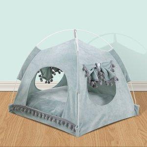 Mignon pour animal de compagnie pour les chats Puppy Dog House Bed Tent Respirant été pour les chats Lits pour lapins Hamster Cat Pet Maison pour chat