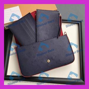 женская черные мешки женщин, портмоне цепь сумка из трех частей кожи классической бумажника карты сумки сумка сумка женских Клатчи Маленьких