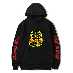 SchwarzesHoodie COBRA KAI Hoodies Männer Frauen Sweatshirts Harajuku Hip Hop Kapuzen COBRA KAI Jungen Mädchen beiläufige Beliebte Pullover